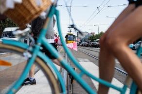 Blue Bike. Warsaw 2018
