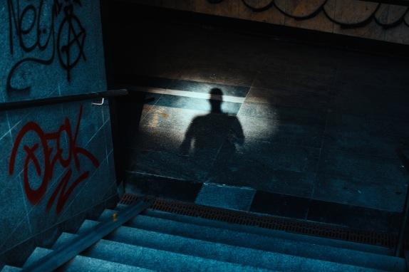 self shadow stairs underground
