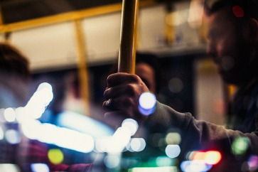 Tram-at-night-reflection-and-lights-small