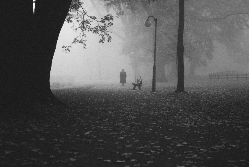 Ghsotly-monochrome-woman-walking-in-fog-park-solacki-autumn-new-edit-2018-small